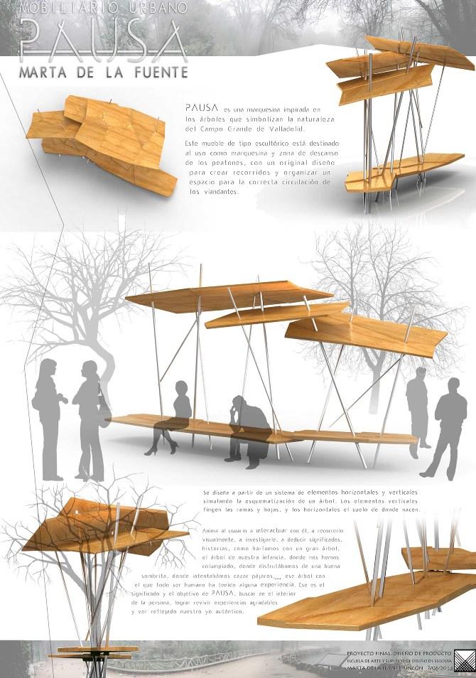 Pfc mobiliario urbano pausa marta de la fuente art and for Equipamiento urbano arquitectura pdf